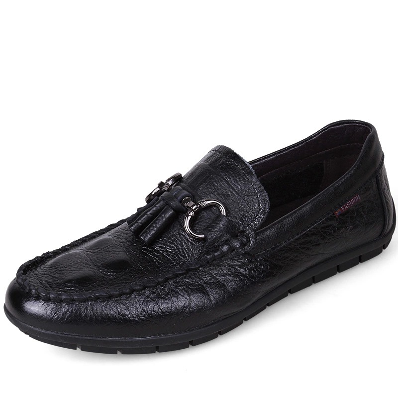 ФОТО Hight Quality Men Soft GENUINE LEATHER Tassel Loafer Slip On  Driving Car Shoes Moccasin Bussiness Man Office Shoes