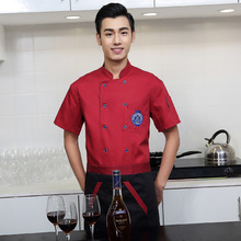 New Arrive Summer Short-sleeve Breathable Double-breasted Restaurant Chef Jacket Kitchen Cook Uniforms Man Woman Chef Service