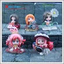 New Arrival 5 cm  PVC Q Edition Doll 5pcs/set Nami Robin Mermaid Action Figure Model Doll Toys Free Shipping