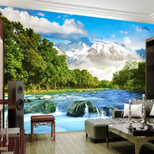 3D Custom  Wallpaper Snow Mountain Scenery