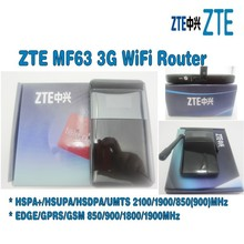 Lot of 10pcs Unlocked ZTE MF63 3g wireless router hspa mobile hotspot plus with  3g antenna