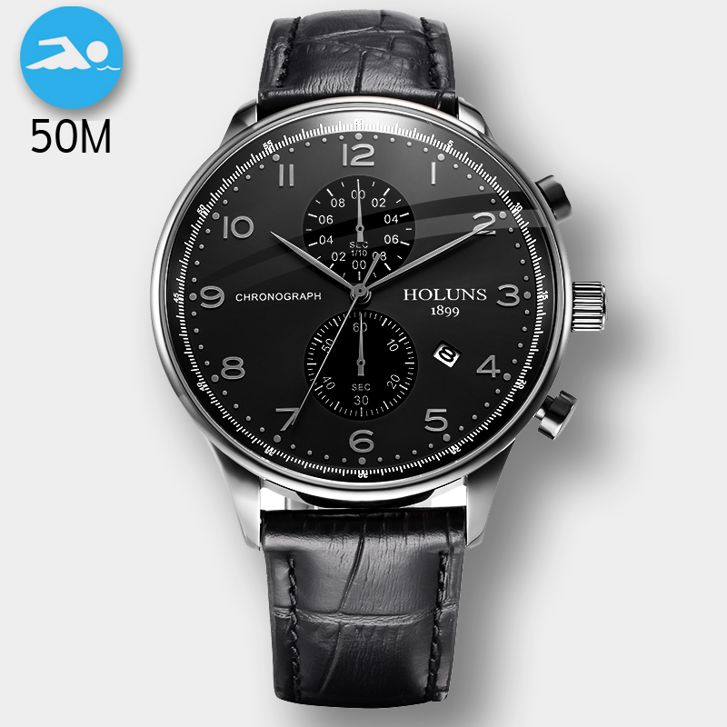 50M Waterproof Fashion Chronograph Brand Quartz Watch Men Military Stainless Steel Sports Watches Man Clock Relogio Masculino