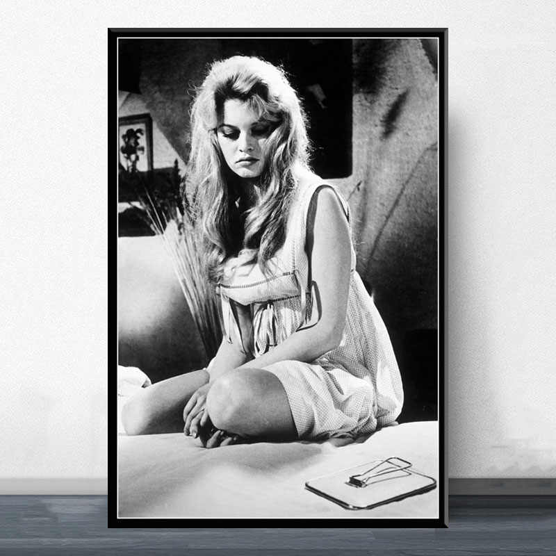 P522 الساخن مثير بريجيت باردو الفيلم ستار الممثلة نموذج الفن اللوحة الحرير قماش المشارك ديكور حوائط المنزل
