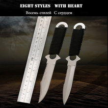 2017 new Paratroopers Knife Stainless Steel Diving Straight knife Outdoor Survival Camping Pocket Knife Tactical Knife