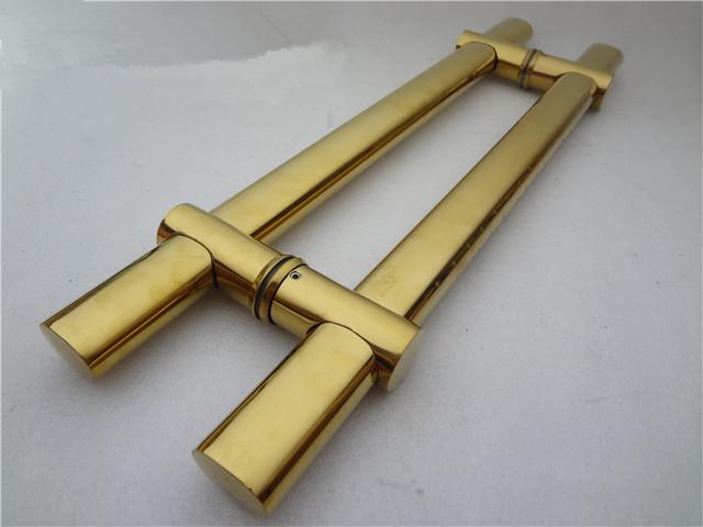 KTV Vidro/Porta De Madeira de Aço Inoxidável 1200mm Puxar Lida Com Acabamento de Ouro