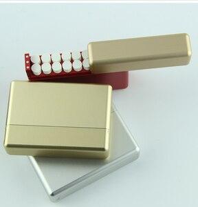 Image 5 - 18 otworów rękaw ochronny papierośnica ze stopu aluminium dla IQOS przechowywanie papierosów pudełko Mental Box