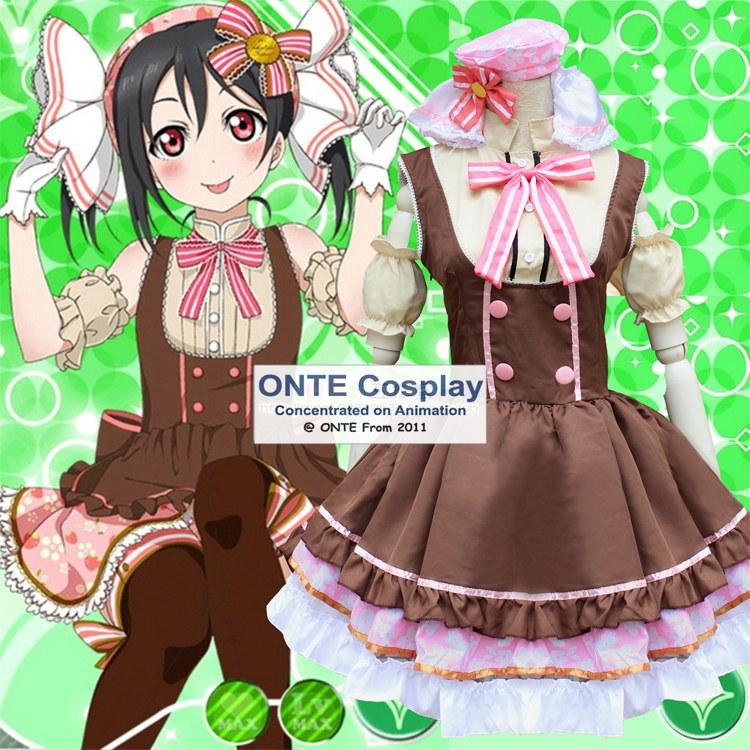 Anime Love Live School Idol Projekt Cosplay Kostým Yazawa Nico Sweet Candy Lovelive! Oblečte Cosplay kostým Lolita šaty