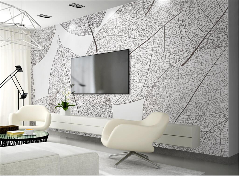 Custom 3d Photo Wallpaper Murals Modern Minimalist Leaves Nature Wall Murals Mural for Living Room Bedroom Restaurant Decoration large wall murals wallpaper for living room wall decor modern mural custom size mural de parede 3d wall murals nature red leaves