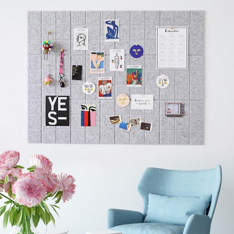 Tablero de notas de fieltro de estilo nórdico tablero de mensajes decoración de pared de fotos del hogar agenda de planificación tablero de oficina decoración del hogar