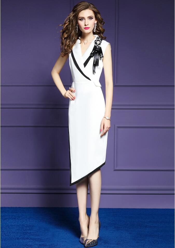 Simple à la mode mince robe de soirée vestido de festa bureau dame style 2019 robe de bal élégant ceintures décoration formelle robe