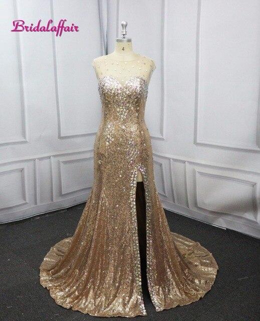 cf53f232d5 Luxury Mermaid Prom Dresses 2018 customize Brilliant Evening Dress Long  video Sweetheart Shining Beading Sexy Woman