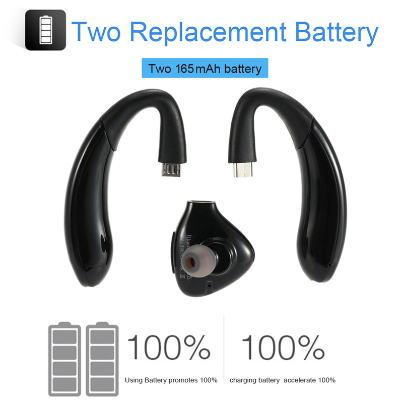 US $14 83 27% OFF|Car Headphones Replacement Wireless bluetooth earphones  Backup Battery Multi point Technology Headset With Mic for phone-in