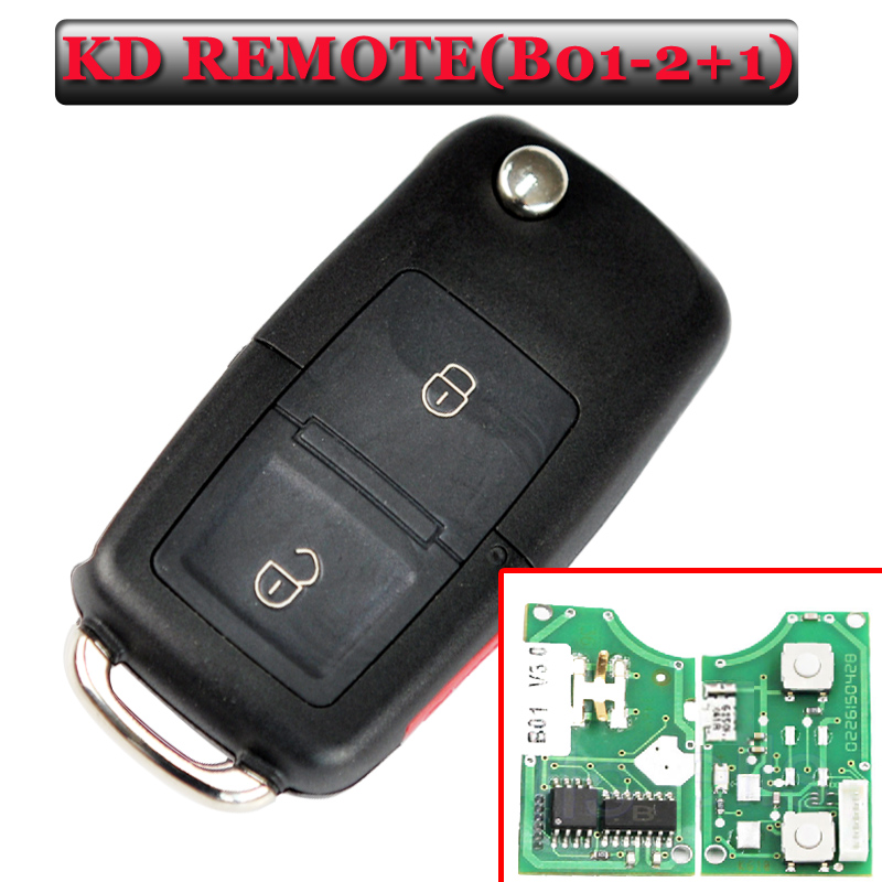 Livraison gratuite (1 pièce) B01 2 + 1 bouton kd clé à distance pour vw Style clé pour KD900 (KD200) Machine