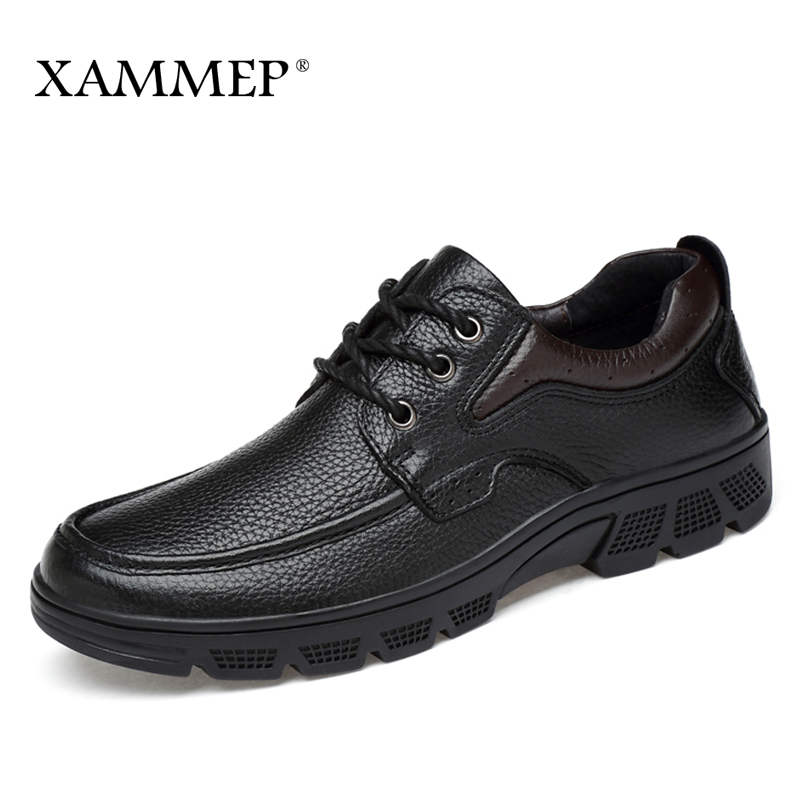 Genuine Leather Men Shoes Casual Shoes Brand Winter Boots For Men Winter Shoes Flats Warm Plush Spring Autumn Big Size Xammep цена
