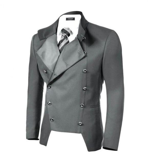 Шикарный стиль мужской пиджак двубортный красивый мужской костюм лацкане пиджака нестандартных размеров и цветов бизнес отдых куртка