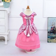 2016 new arrival Sleeping Beauty princess dress tutu disny princess costume dress for kids girl 4-11Y