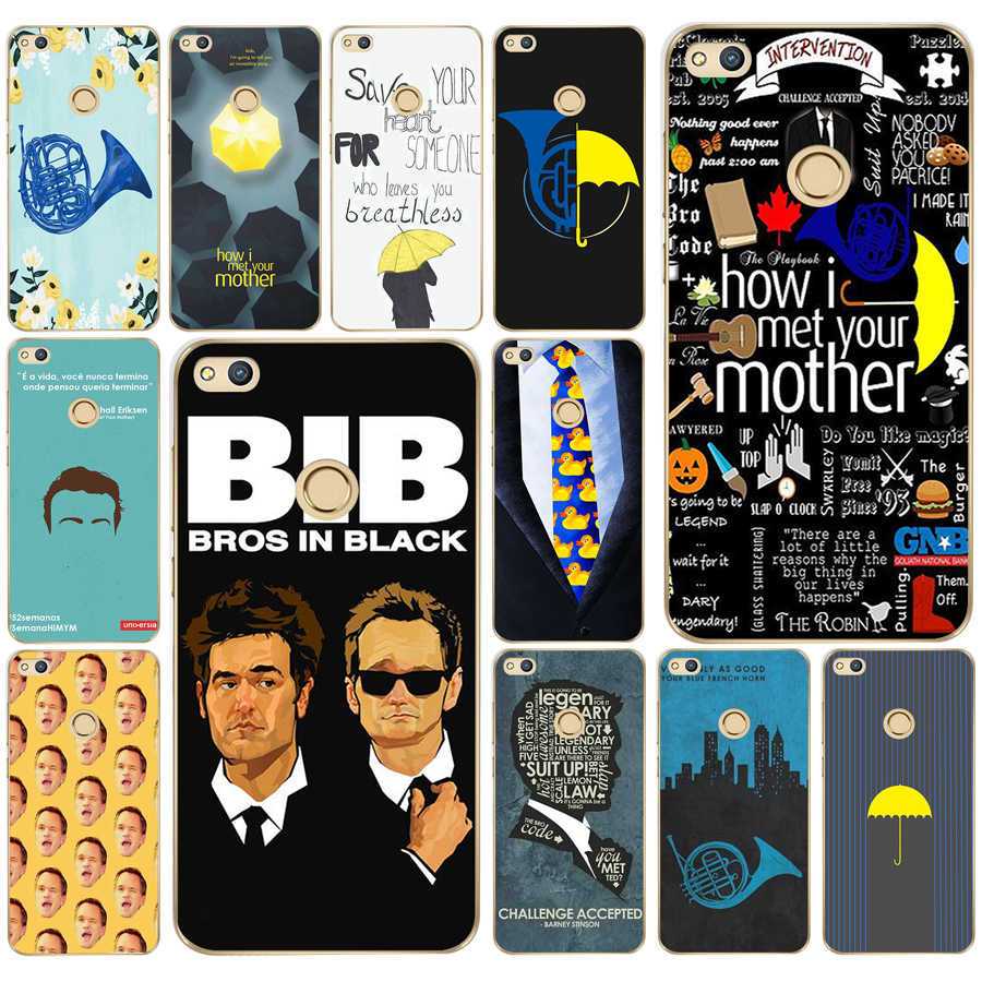 121DD how i met your mother himym quotes Hard Transparent Cover Case for  Huawei p8 P20 honor 9 Lite mate 10 pro y6 y5 2017