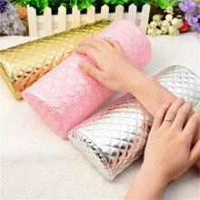 1 шт., профессиональный держатель для подушек для рук, мягкая губка из искусственной кожи, подставка для рук с сердечком, дизайнерская Подушка для ногтей, маникюрные товары для рукоделия