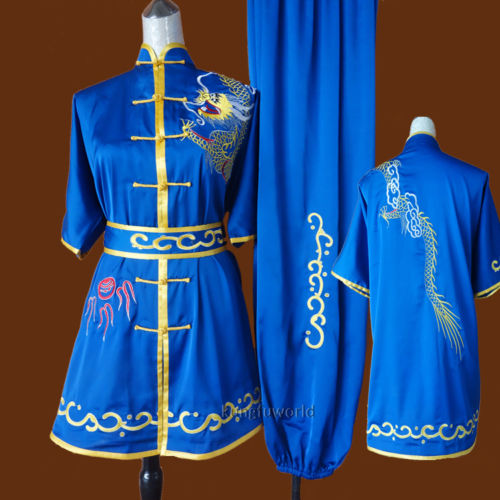 Embroidery Competition Changquan Tai chi Kung fu Uniform Martial arts Wing Chun Wushu Taiji Suit купить недорого в Москве