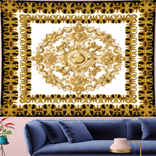 Court style retro Deconstruction angle Tapestry gold mandala Yoga Mat goblen Tapestries macrame wall towel Wall Hanging decor