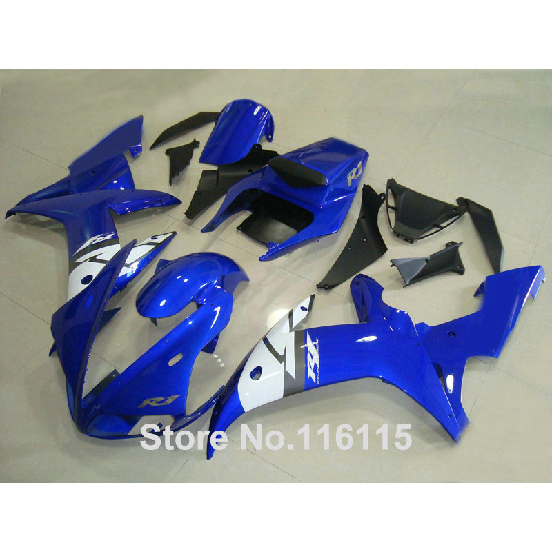 Injection molding ABS plastic fairings set fit for YAMAHA YZF R1 02 03 white blue black full Fairing kit YZF-R1 2002 2003 QH75 hot sales yzf600 r6 08 14 set for yamaha r6 fairing kit 2008 2014 red and white bodywork fairings injection molding