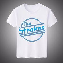 2ff9b5e291c3 Popular The Strokes T Shirt Men Letter Printed Indie Rock Band T-shirt  Short Sleeve