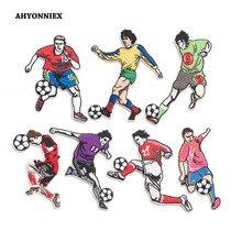 AHYONNIEX 1pc Iron On Embroidery Patch DIY Clothing Sticker Football P