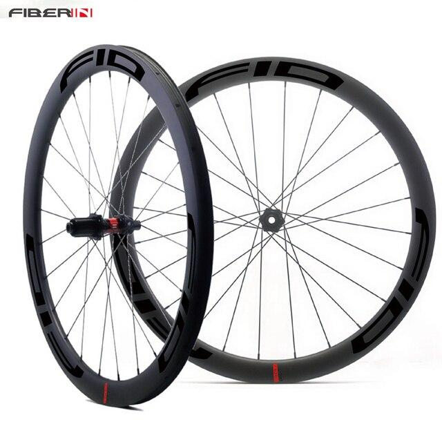 700c FID مكبح قرصي الكربون الطريق دراجة عجلة أنبوبي الفاصلة لايحتاج الحصى cyclocروس العجلات