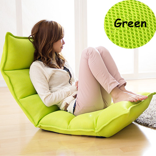 Mesh Fabric Lounge Chair Living Sofa Home Furniture Sleeper Daybed  Floor Seating Adjustable Headrest Multi-Functional Chaise
