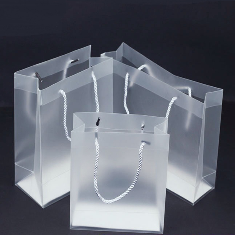 100pcs/lot 7 Size high quality waterproof transparent PVC bag Transparent gift tote bag PVC plastic bags