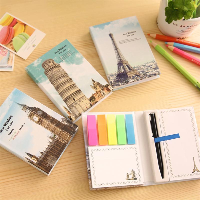 D43 Kawaii London Paris Planner Sticker Diary Notebook School Stationery Sticky Notes Notepad Post it Papelaria Filofax Papel