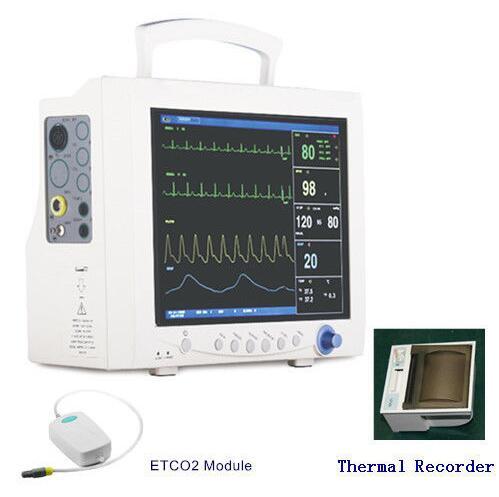 CE Contec CMS7000 ICU Patient Monitor w/ ETCO2+printer, NIBP+SPO2+ECG+RESP+TEMP ce vet veterinary icu patient monitor 6 parameters contec cms6000 etco2 printer
