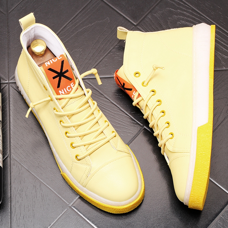 Stephoes 새로운 도착 남자 패션 캐주얼 신발 여름 에어 메쉬 높은 상위 캔버스 신발 남성 통기성 청소년 동향 스 니 커 즈-에서남성용 캐주얼 신발부터 신발 의  그룹 3