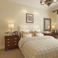 Simple Crochet 3D Non woven Wallpaper Plain and Elegant Dark Flower Relief Wallpaper Living Room Bedroom Hotel Full Large Areas