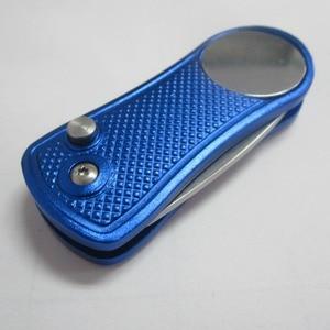 Image 4 - Với smail mặt bóng cột mốc có thể thu vào cao cấp tự động Switchblade kim loại hợp kim nhôm Golf sân Xanh sửa chữa dĩa Bộ