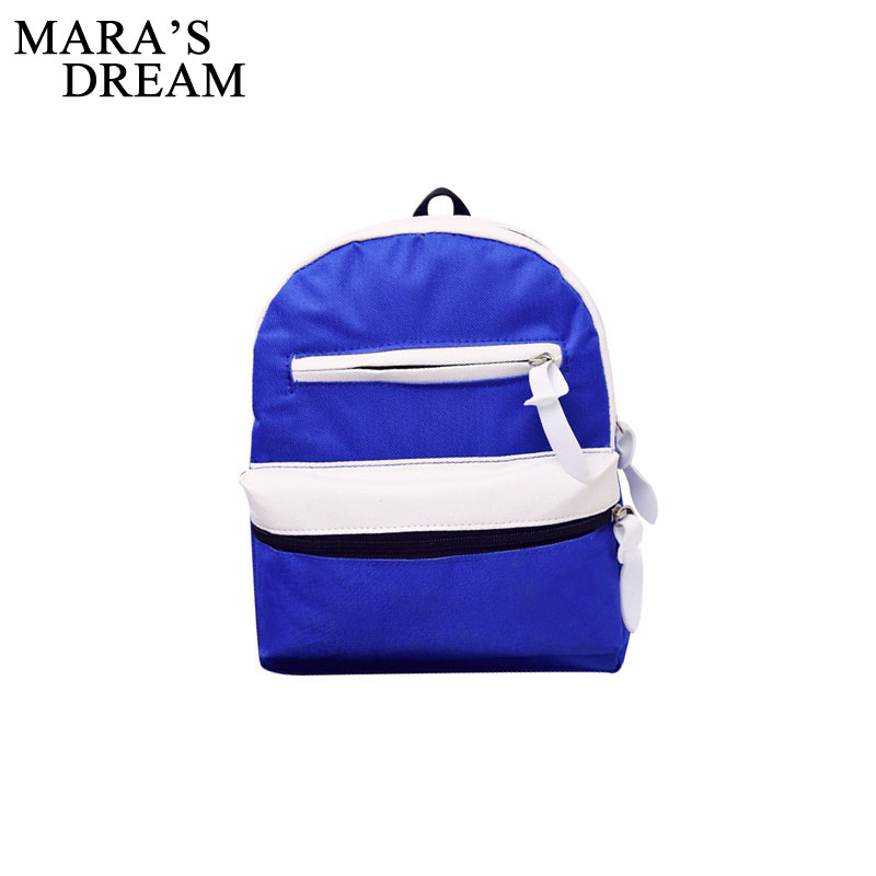 Mara's Dream Casual Canvas Patchwork Small Rucksack Women Clutch Purse Ladies Famous Brand Shoulder Bags School Student Backpack fossil sydney patchwork zip clutch