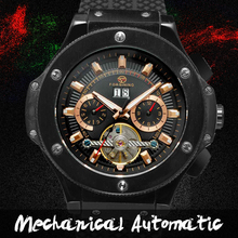FORSINING Brand Sport Watches Men Chronograph Silicone Black Men Wrist Watch Cross Country Military Watch
