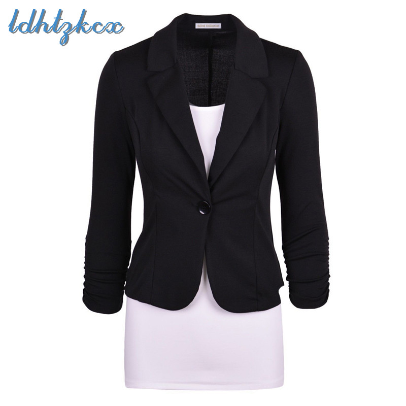 Blazer Coat Women Black Pink White S-2XL Slim Jacket 19 Spring Autumn Korean Elegant Office Party Chic Blazer Coat Feminina CX54