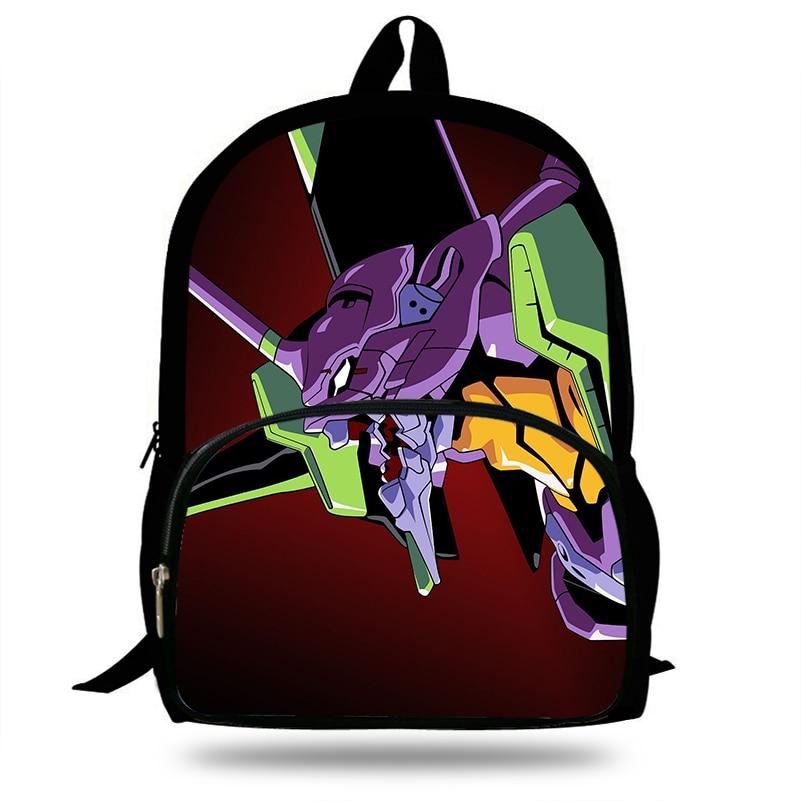 487625e6eb 16-Inch Anime Neon Genesis Evangelion Backpack For Kids School Bag For Children  Boys School
