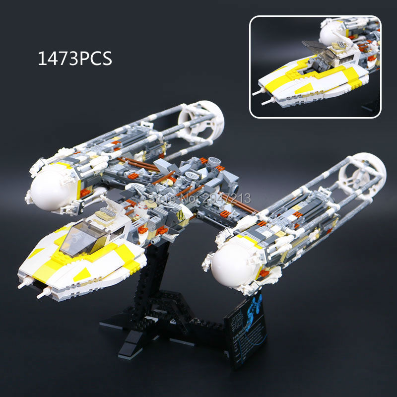 hot compatible LegoINGlys Star Wars series Building blocks y - wing starfighter attack with mini figures robot brick toys gift