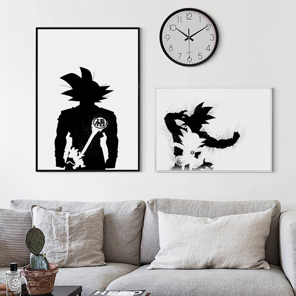 Nordic-Decor-Dragon-Ball-Super-Japan-Anime-Abstract-Goku-Canvas-Painting-Poster-And-Print-Picture-Wall