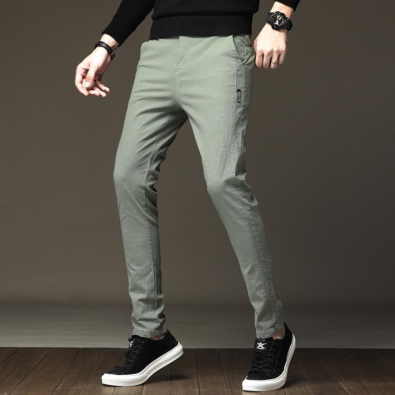 Light Green Men's Pants  Casual