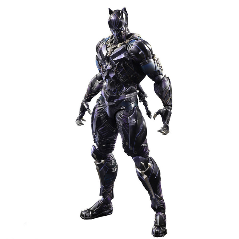 Black Panther Figure Variant Playarts PVC Action Figures Collectible Model Toy  Toys the Avengers 26cmBlack Panther Figure Variant Playarts PVC Action Figures Collectible Model Toy  Toys the Avengers 26cm