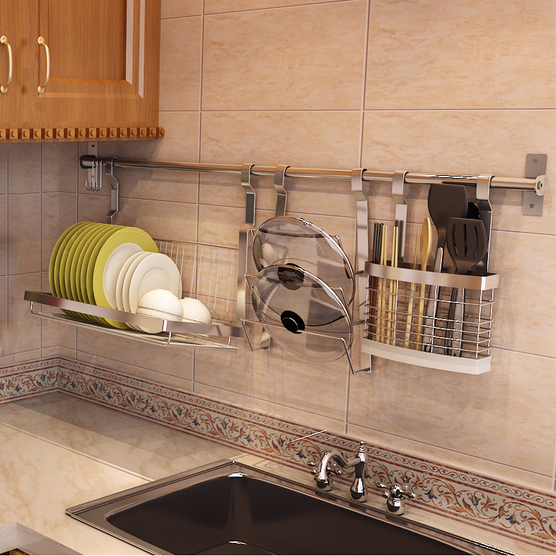 304 stainless steel kitchen shelving kitchen wall drain - Ikea cocinas accesorios ...
