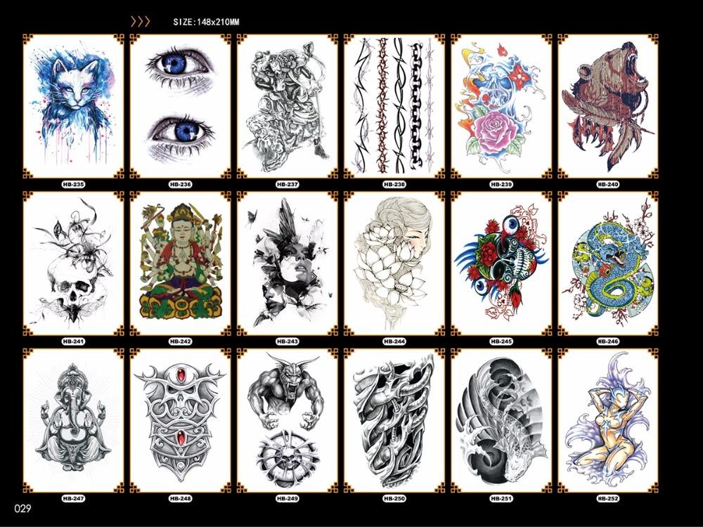Impermeable grandes tatuajes temporales para los hombres serpiente ...