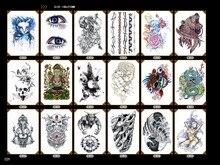 Wasserdichte große temporäre Tattoos für Männer Schlange Buddha Skelett Design Arm Ärmel Aufkleber Erwachsene gefälschte temporäre Tattoo Aufkleber