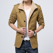 Military Men Jacket Winter Outwear Male Casual Solid Fur Trench Coat Parka Overcoat Long Cotton Bomber Jackets Plus Size 6XL