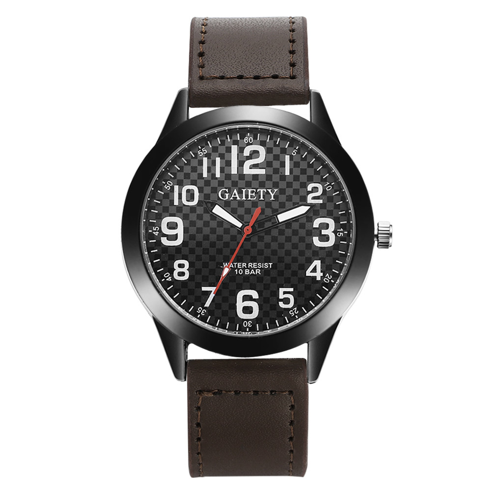Fashion Plaid Pattern Watches Mens Stainless Steel Military Wrist Watch Mens Top Brand Leather Quartz Watches Business Reloj #Ju cocoshine a 999 mens stainless steel business quartz wrist watch blu ray wholesale