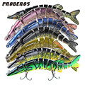 PROBEROS 12.5cm 20g Fishing Lures pesca Lifelike Multijointed 9-segement Pike Swimbait Crankbait Fishing Lure Fake Fish Bait
