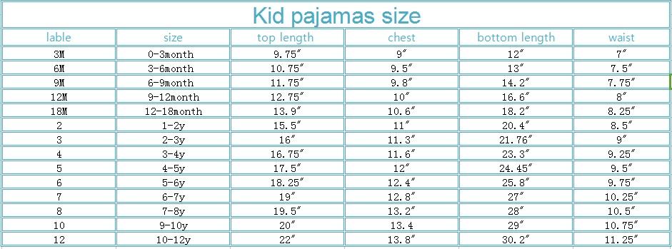 family christmas pajama sets kid pajamas size